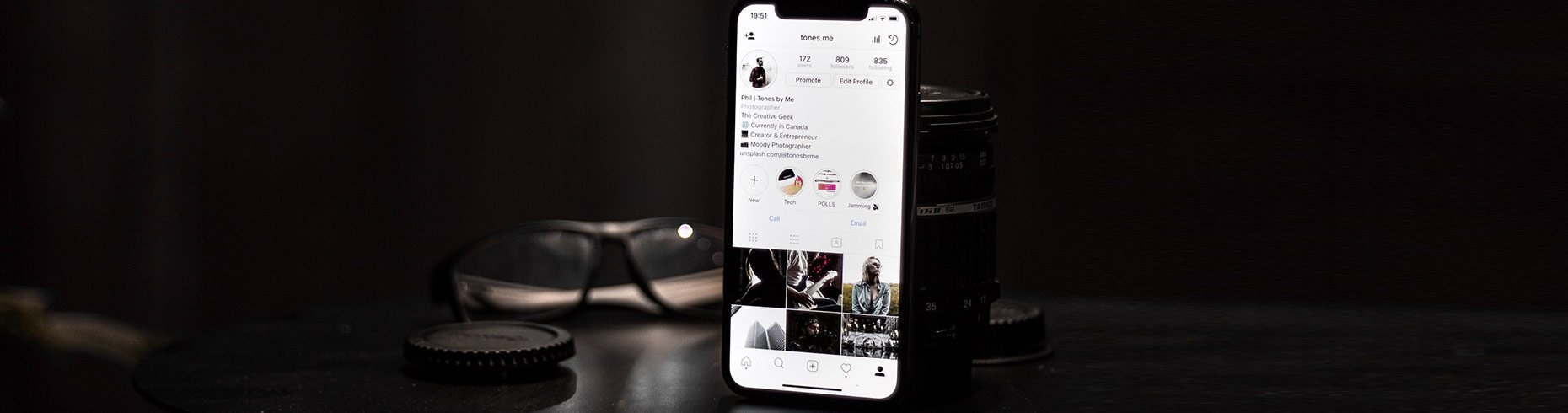 Instagram per fotografi Photo by Phil Desforges on Unsplash